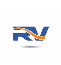 Rv company linked letter logo vector