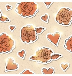 seamless pattern of roses eps 10 vector image vector image