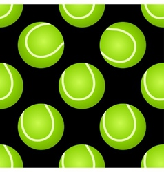 Seamless tennis ball pattern vector image vector image