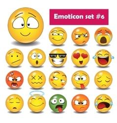 Set of emoticons n6 vector