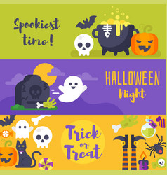template for halloween banner vector image vector image