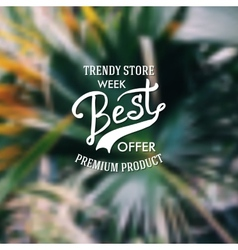Trendy store advertising poster vector