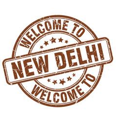 Welcome to new delhi vector