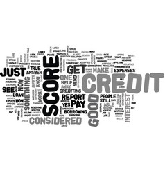 What is considered a good credit score text word vector