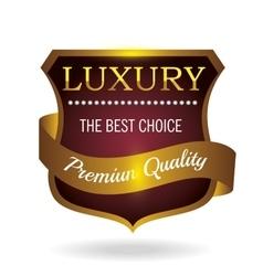Seal guaranteed premium quality gold vector
