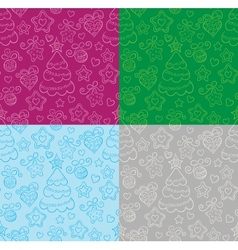 Funny seamless christmas background vector