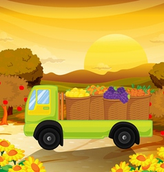 A fruittruck vector