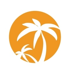 Tree palm tropical isolated icon vector