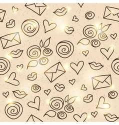 romantic pattern eps 10 vector image