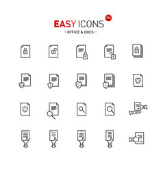 easy icons 17a docs vector image