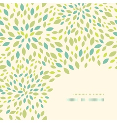 Leaf texture corner decor pattern background vector