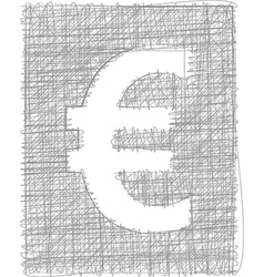 Euro sign - freehand symbol vector