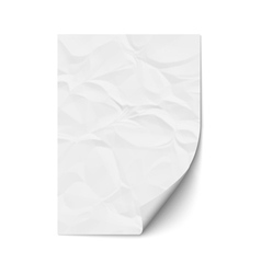 Sheet crumpled paper vector image