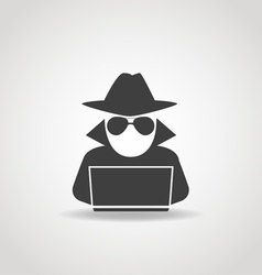 Anonymous Computer Icon vector image