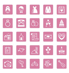 Flat square icons wedding vector