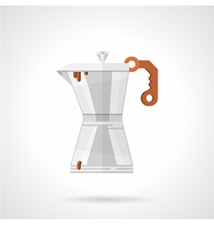 Coffee maker flat color icon vector