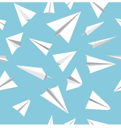 Paper plane pattern vector