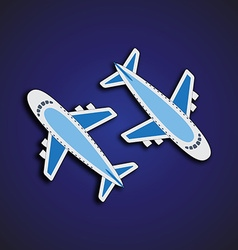 Airplanes from the top vector