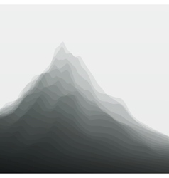 Mountain landscape silhouettes of vector
