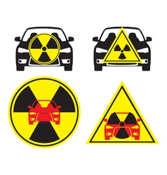 Radioactive car vector