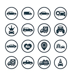 Car icons universal set vector