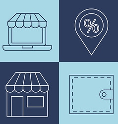E-commerce icons design vector