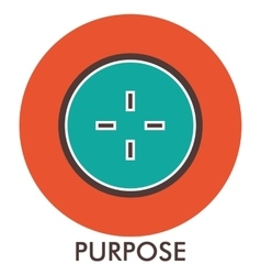 Purpose sight sense of purpose line icon with vector