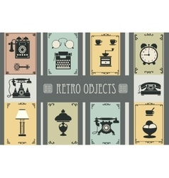 Set of retro household vector