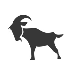 Goat icon wild animal design graphic vector