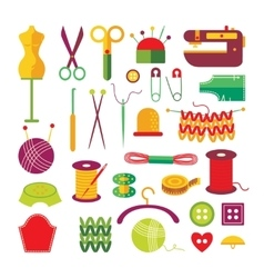 Handmade colorful icons set vector