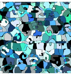 Abstract color mosaic animals pattern vector image vector image