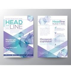 Abstract polygon brochure flyer template layout vector image