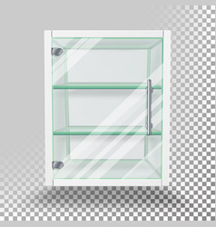 Advertising glass cabinet empty stand vector