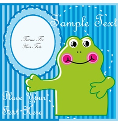 Baby postcard with frog vector image vector image