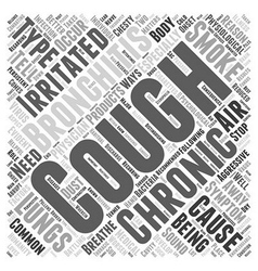 Bronchitis chronic cough symptom word cloud vector