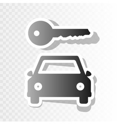 Car key simplistic sign new year blackish vector