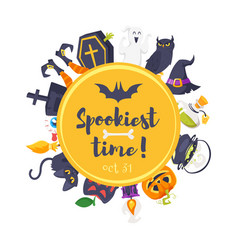 cartoon style web halloween banner vector image vector image