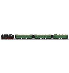 Classic steam train vector image vector image