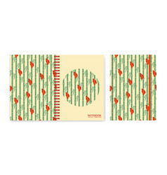 cover design for notebooks or scrapbooks with vector image vector image