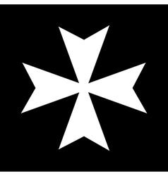 Cross of the knights hospitaller vector