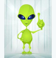 Cute alien vector