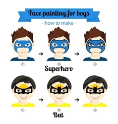 Face painting boys 4 vector