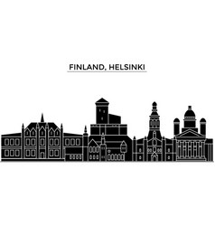 finland helsinki architecture city skyline vector image vector image