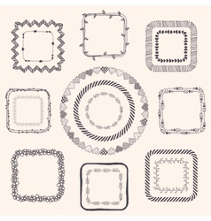 Handsketched doodle frames design elements vector