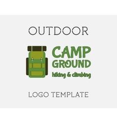 Hiking Logo Design vector image vector image