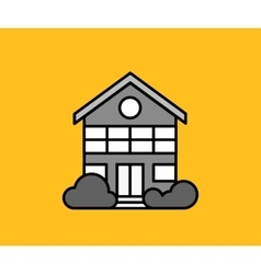 House Icon on Yellow vector image vector image