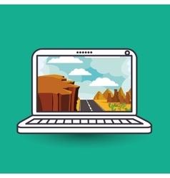 Landscape wallpaper for computer design vector