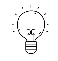 Line light bulb idea to creative invention vector