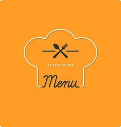 Logo restaurant menus vector image vector image