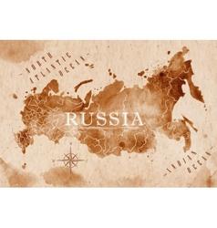 Map russia retro vector